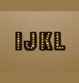 bulb light font on wood pattern vector image vector image