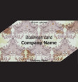 business card classic ornament background vector image