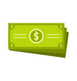 business money icon flat style vector image vector image