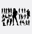 businessman and business woman silhouettes vector image