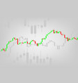 candle stick graph chart of stock market vector image