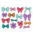 color bows sketch fashion tie bow accessories vector image