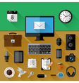 Concept of workplace vector image vector image