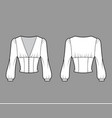 cropped top technical fashion vector image vector image