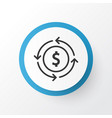 currency interchange icon symbol premium quality vector image