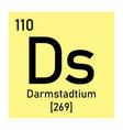 darmstadtium chemical symbol vector image vector image