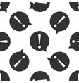 exclamation mark in circle icon seamless pattern vector image vector image