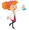 Female Chemist vector image vector image