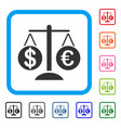 forex market scales framed icon vector image vector image