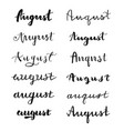 hand drawn typography august vector image