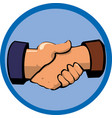 handshake icon design template vector image vector image