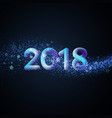 happy new 2018 year vector image