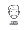 hipster haircut line icon outline sign linear vector image