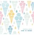 Ice cream cones textile colorful frame corner vector image vector image