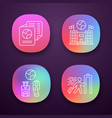 immigration app icons set consulate building vector image vector image