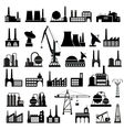Industrial buildings 2 vector image vector image
