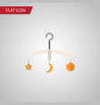 isolated crib flat icon mobile element can vector image