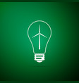 light bulb with a wind turbines icon vector image vector image