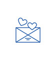 love message line icon concept love message flat vector image