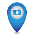 Map pointer with camera vector image
