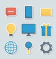 marketing online design vector image vector image