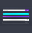 modern search bar set template internet searching vector image