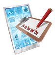 online survey phone app clipboard concept vector image vector image