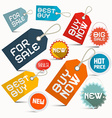 Paper Business Labels Set Isolated on White vector image vector image