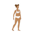 puberty teenage girl and breast development vector image