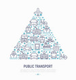 public transport concept in triangle vector image vector image