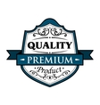 Quality premium product badge vector image vector image