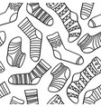 seamless abstract pattern with socks vector image vector image