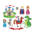 set fairy tale character vector image