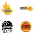 set of basketball vector image vector image