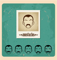 set of faces with mustaches vector image vector image
