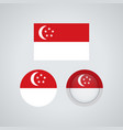 singaporean trio flags vector image vector image