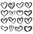 sketch heart decorative grunge doodle drawn vector image vector image