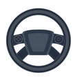 steering wheel single icon in cartoon style for vector image vector image