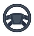 steering wheel single icon in cartoon style vector image vector image