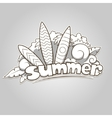 Summer surfing colorless vector image