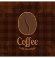Tartan Background with Coffee Bean vector image