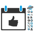 Thumb Up Calendar Day Icon With Bonus vector image vector image