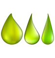Toxic and Danger Chemical Drop of Green Acid Set vector image vector image