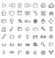 web common icons black and white pack vector image vector image