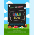 welcome back to school poster banner or flyer for vector image