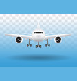 white airplane flying vector image