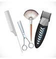 Set hairdressing tools vector image
