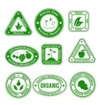Organic stamps vector image