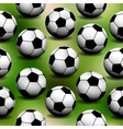 Seamless Background with soccer balls vector image