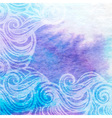 Watercolor aqua background-abstract hand drawn vector image
